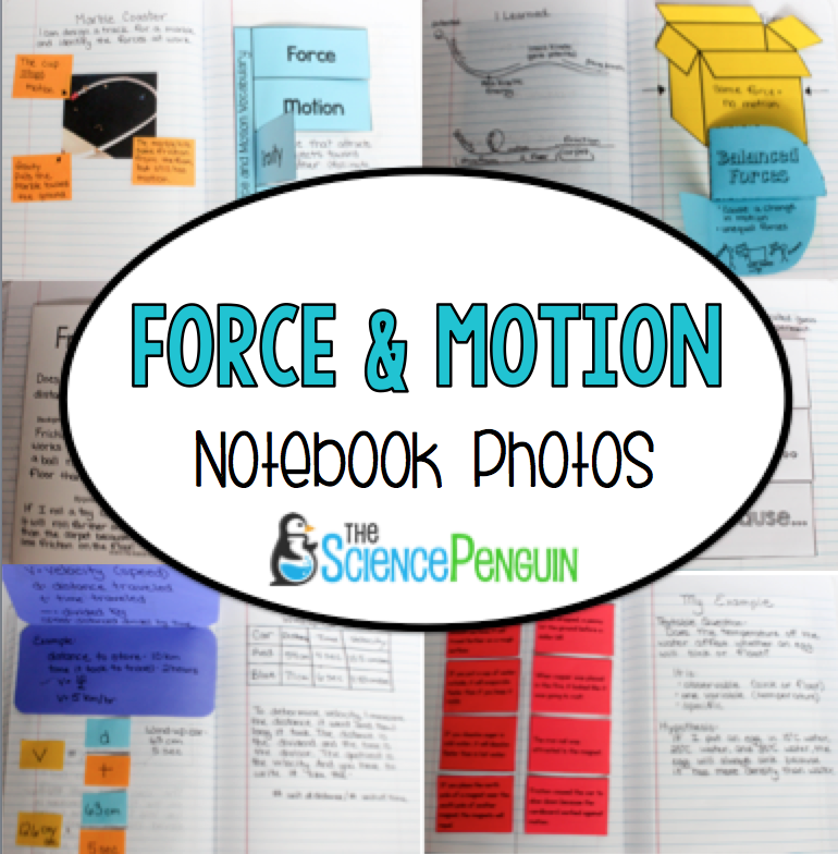 New Year New Notebook Force And Motion Science Penguin
