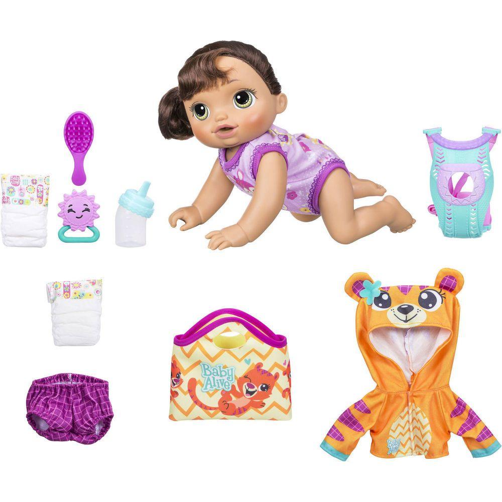 Baby Alive Baby Go Bye Bye Doll English Spanish Bonus Outfit Mat Diaper Baby Alive Dolls Baby Alive Baby Doll Nursery