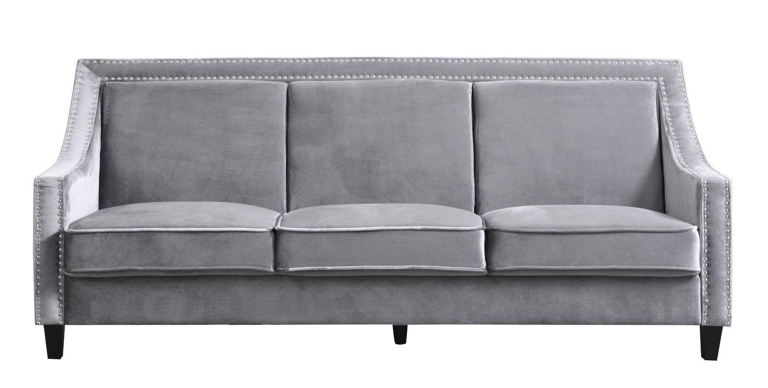 Trista Nailhead Trim Wood Legs Couch Sofa In 2020 Modern Couch Nailhead Sofa Wood Legs