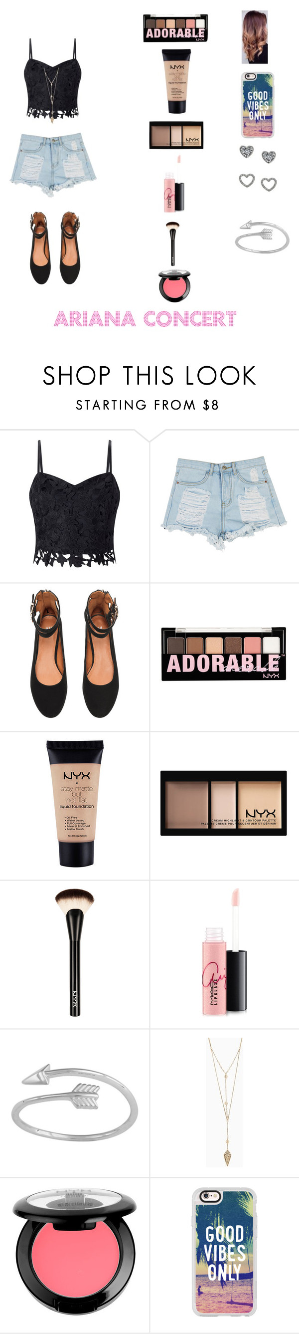 """""""Going to Ariana Grande Concert # Ari"""" by qveenkenya16 ❤ liked on Polyvore featuring Lipsy, NYX, MAC Cosmetics, Midsummer Star and Casetify"""