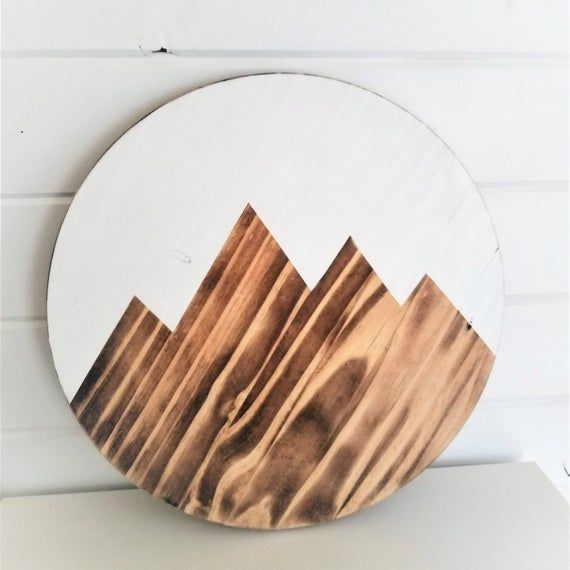Mountain Wall Art.Reclaimed Wood Wall Decor,Mountain Wooden Sign .Mountain wood Decor. Reclaimed Woo #reclaimedwoodwallart