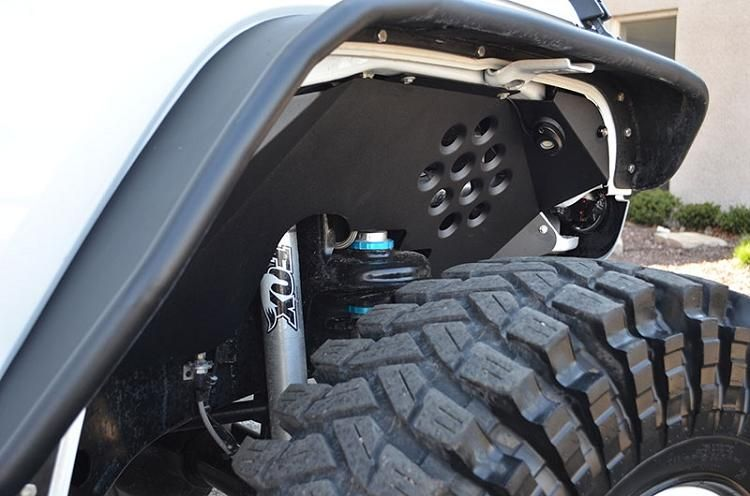 Ace Jk Aluminum Inner Fenders Are The Perfect Way To Finish Off Your Fender Wells While Protecting Your Eng Jeep Wrangler Jk Jeep Wrangler Fenders Jeep Fenders