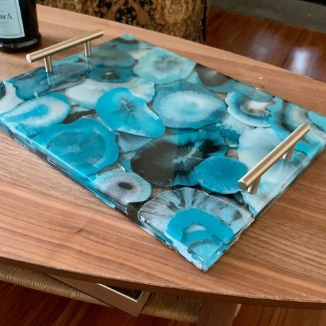 Geode Resin Layered Tray -Made To Order