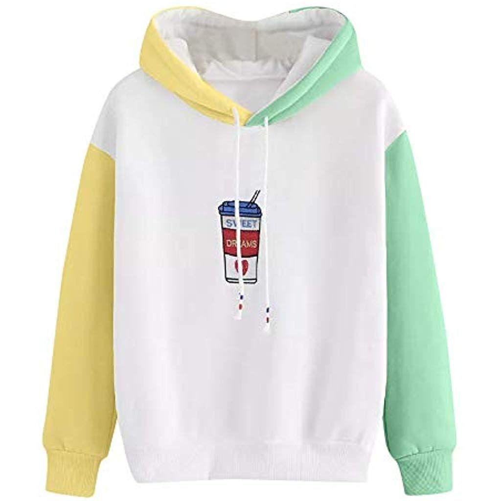 Damen Langarm Kapuzenpullover Pullover Sweatshirt Sweatjacke Hoodie Jumper Jacke