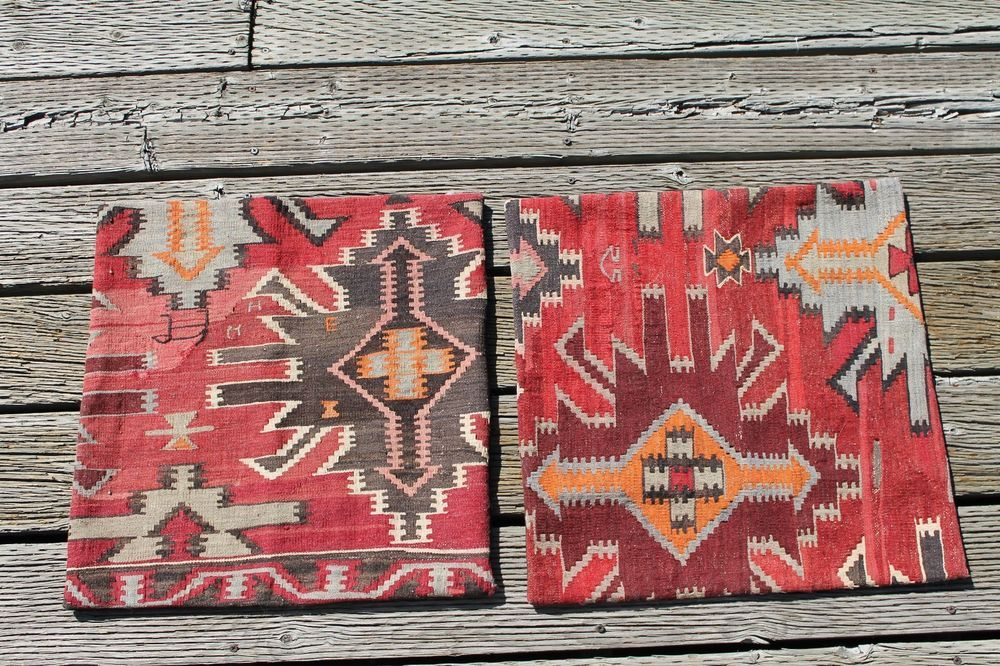 2 Restoration Hardware Turkish Wool Kilim Pillow Covers Restorationhardware
