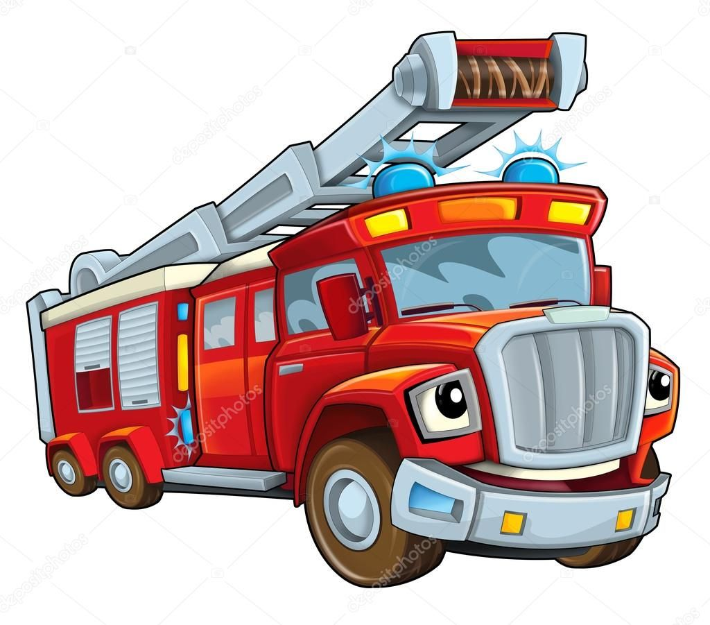 Red Cartoon Firetruck Stock Photo Aff Cartoon Red