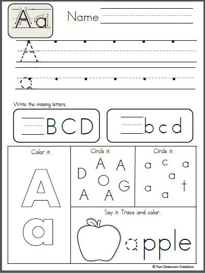 Free Alphabet Letter A Writing Practice  Kids Projects