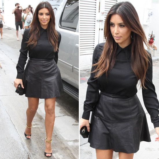 Leather Skirts on | Kim kardashian, Skirts and Zara
