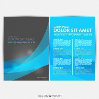 brochure vector graphics free download folder pinterest free