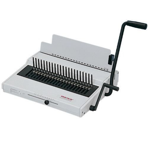 The Renz Combinette Manual Plastic Comb Binding Machine Is Capable Of Punching Up To 25 Sheets Of 11 Paper Per Lift W Binding Machines Coil Binding Metal Comb
