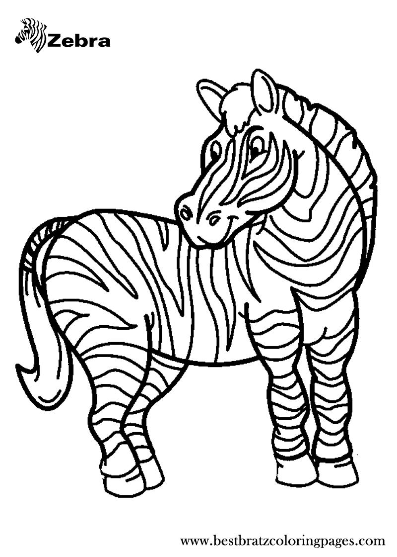 Free printable zebra coloring pages for kids kiddos pinterest