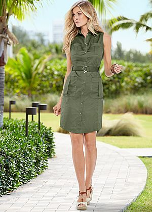 Pocket detail dress