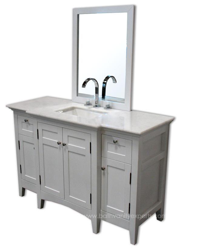 Nantucket Single 52 Inch Usa Made Custom Bathroom Vanity