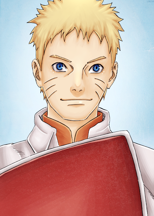 Naruto the 7th Hokage from chapter 700, the last chapter