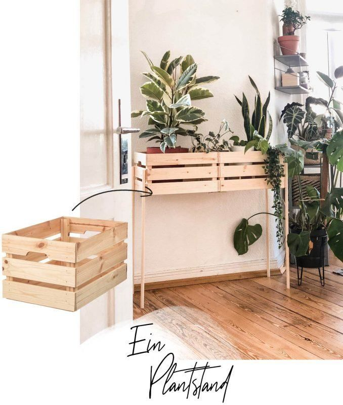 Photo of Build your own plant stand with IKEA boxes – WOHNKLAMOTTE