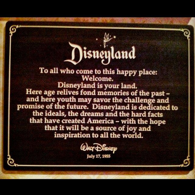 Walt DisneyS Opening Day Dedication Speech  Travel