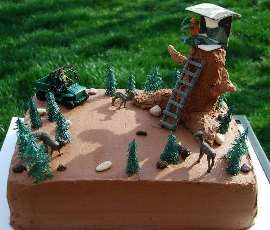 Fantastic Cake Ideas For Kids Hunting Hunting Cake Cake Decorating Funny Birthday Cards Online Barepcheapnameinfo