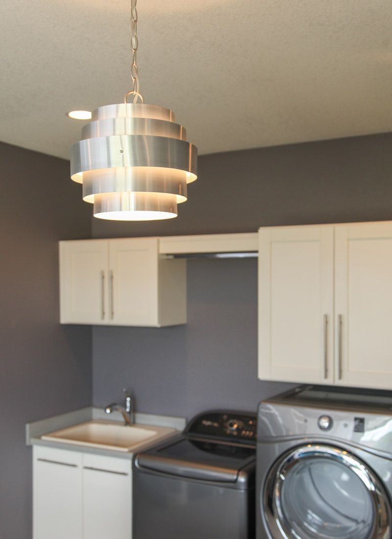 About the laundry room… Is this light fixture not perfect?