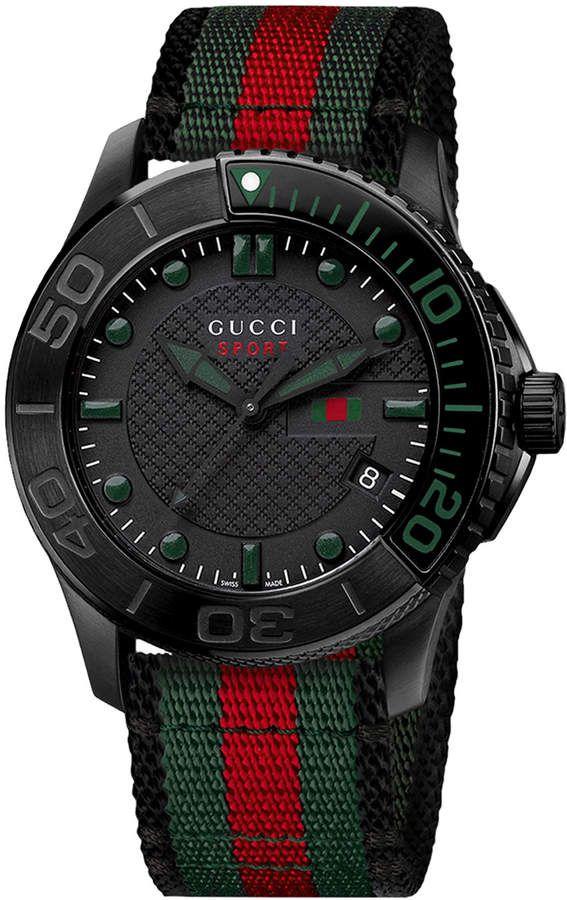 e0d0c07e82b Gucci 44mm G-Timeless XL Men s Chronograph Sport Watch