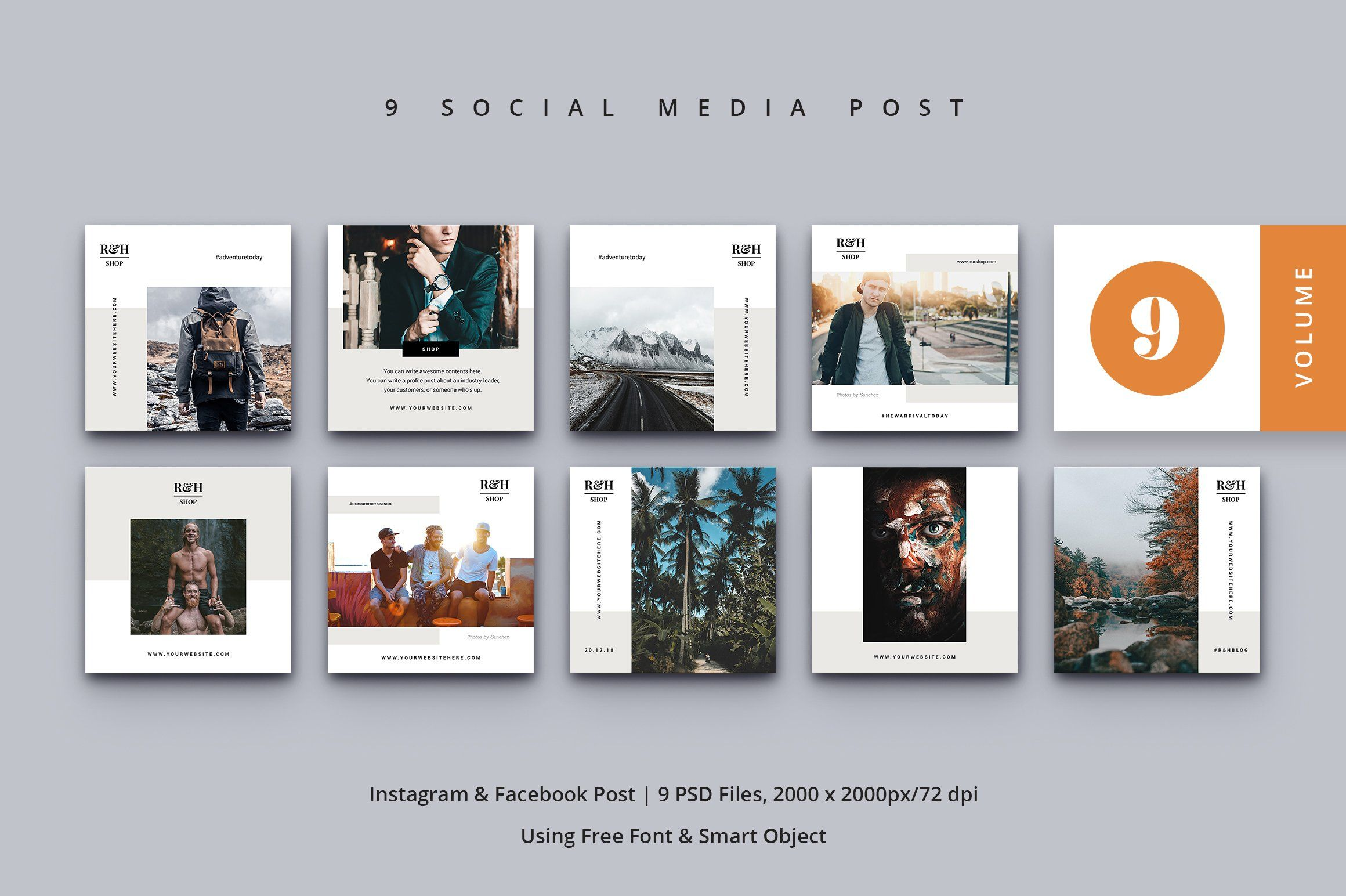 Social Media Kit Vol 9 Ad Instagram Optimized Pinterest Product Ad Social Media Post Media Post Instagram Template