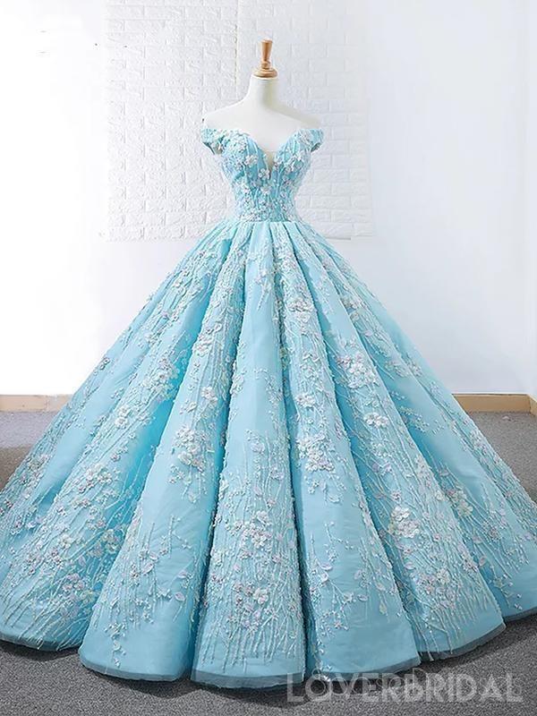 dd4328707ac0 Off Shoulder Tiffany Blue Ball Gown Cheap Long Evening Prom Dresses, Cheap  Custom Sweet 16 Dresses, 18532