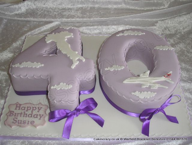 Number 40 Cake Italy Number 40 Numerical Shaped Birthday Cake With