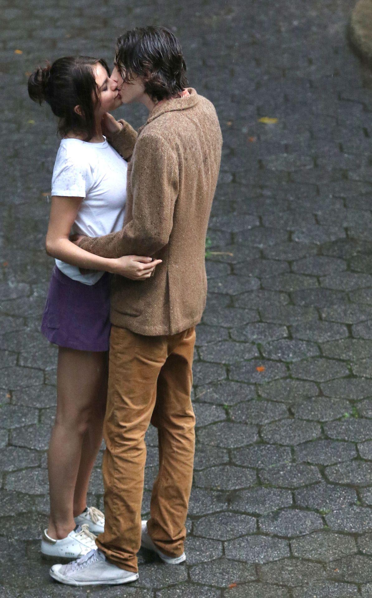 September 26 Selena with Timothée Chalamet on set of