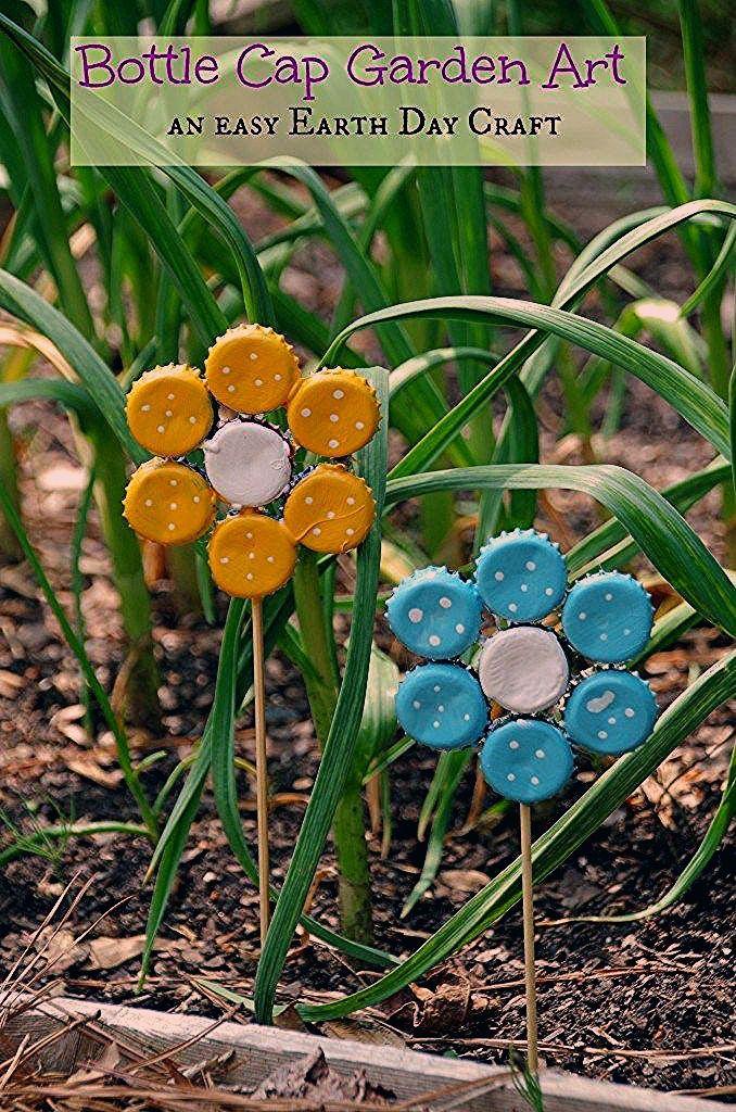 Photo of How to Make Bottle Cap Flowers for Frugal DIY Garden Art