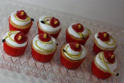 Firefighter cupcakes ideas