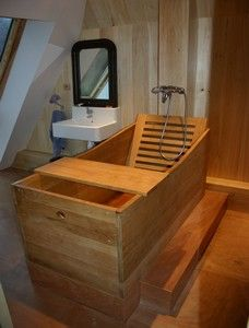 Baignoire Bois Japonaise Prix | DECO/Bathroom | Baignoire, Baignoire ...