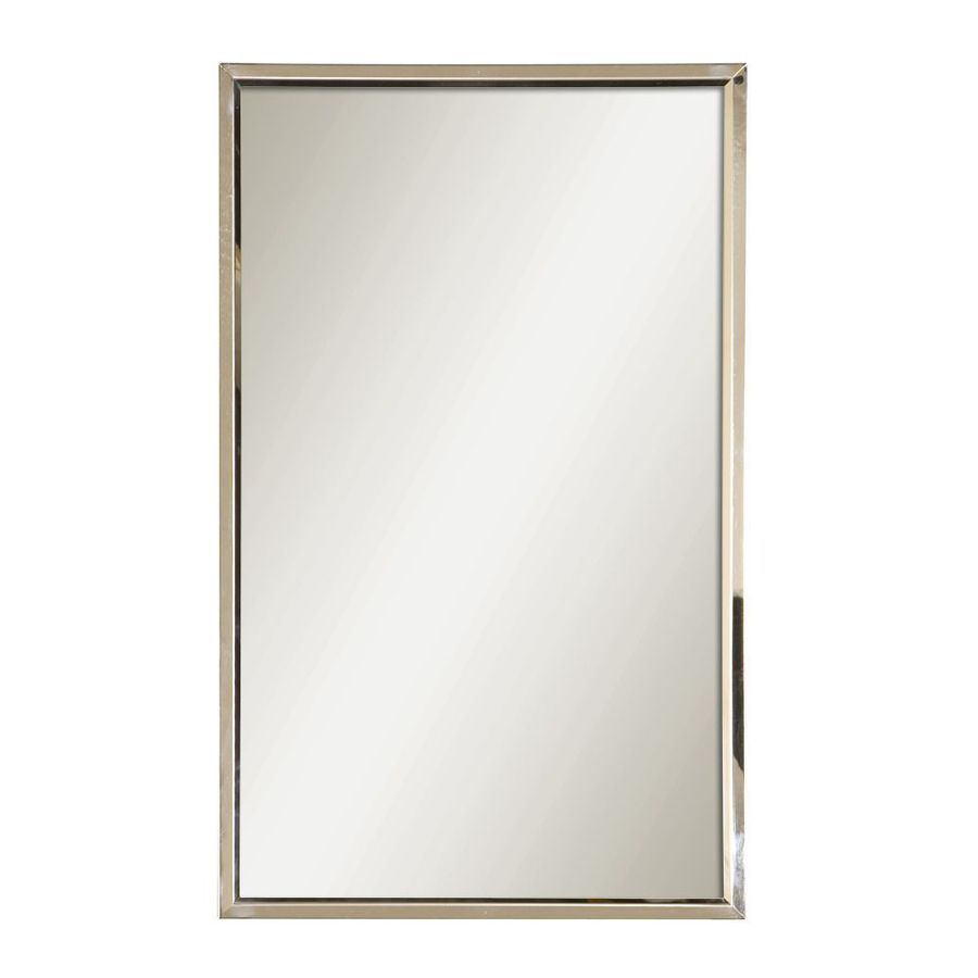 Global Direct 18 In X 30 Polished Stainless Steel Rectangular Framed Mirror At Lowes