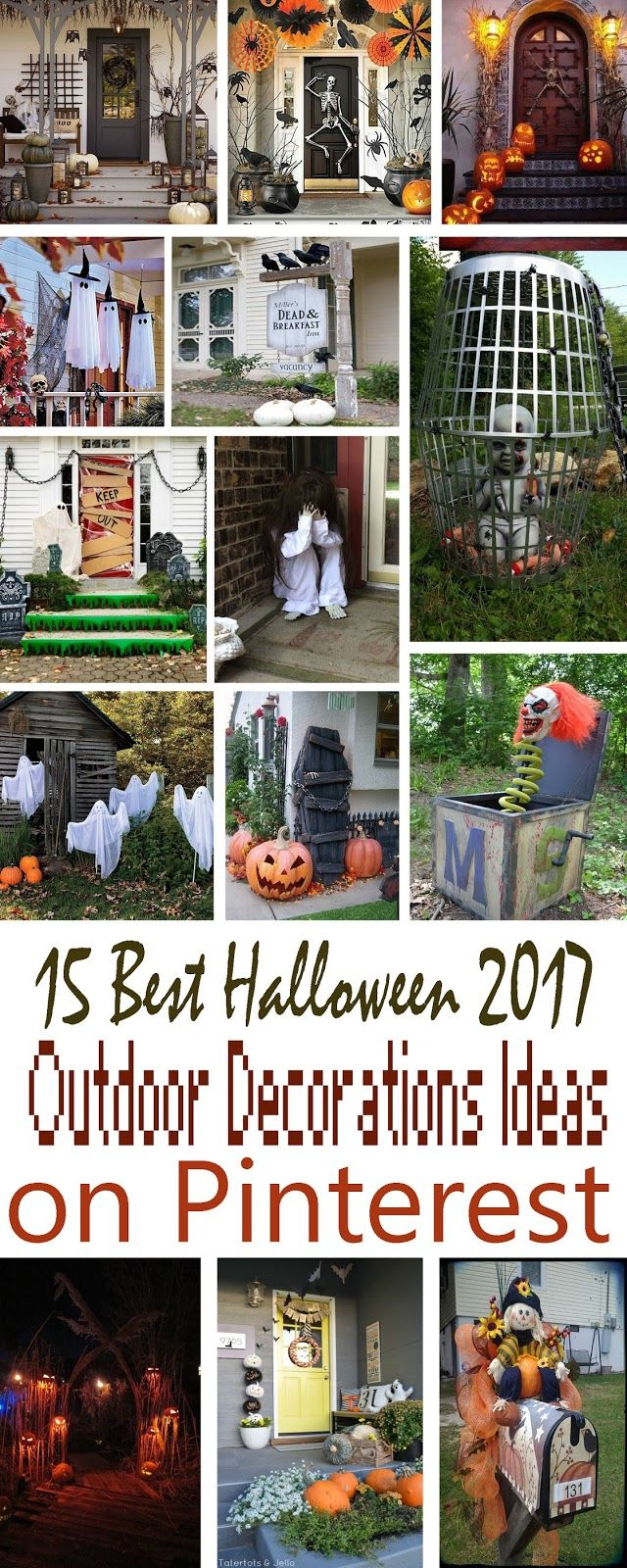 So Halloween Ah Finally Last 9 Days To Go For Halloween S Night So I Thought To Share Halloween Outdoor Decorations Outdoor Halloween Christmas Decor Diy