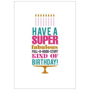 have a super fabulous birthday card birthday party pinterest
