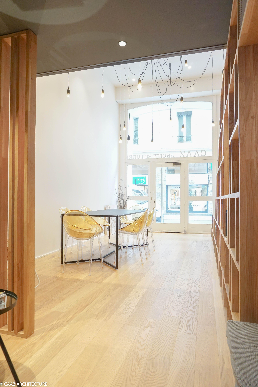 Vitrine Lumiere Escalier Bibliotheque Agence Caaz Architecture Grenoble Bois Architecte Design Architecture Architecte Design