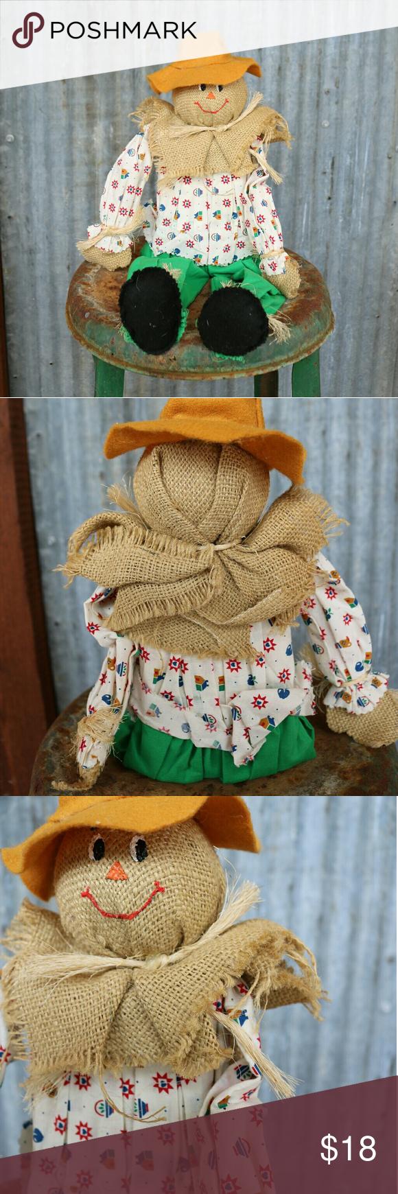 🍁FALL VINTAGE SCARECROW DECOR🍁 🍁Sweetie homemade vintage scarecrow. …