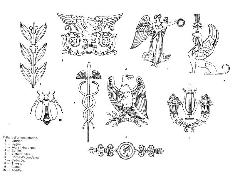 ornements empire dessin de mobilier pinterest ornement empire et dessins de. Black Bedroom Furniture Sets. Home Design Ideas