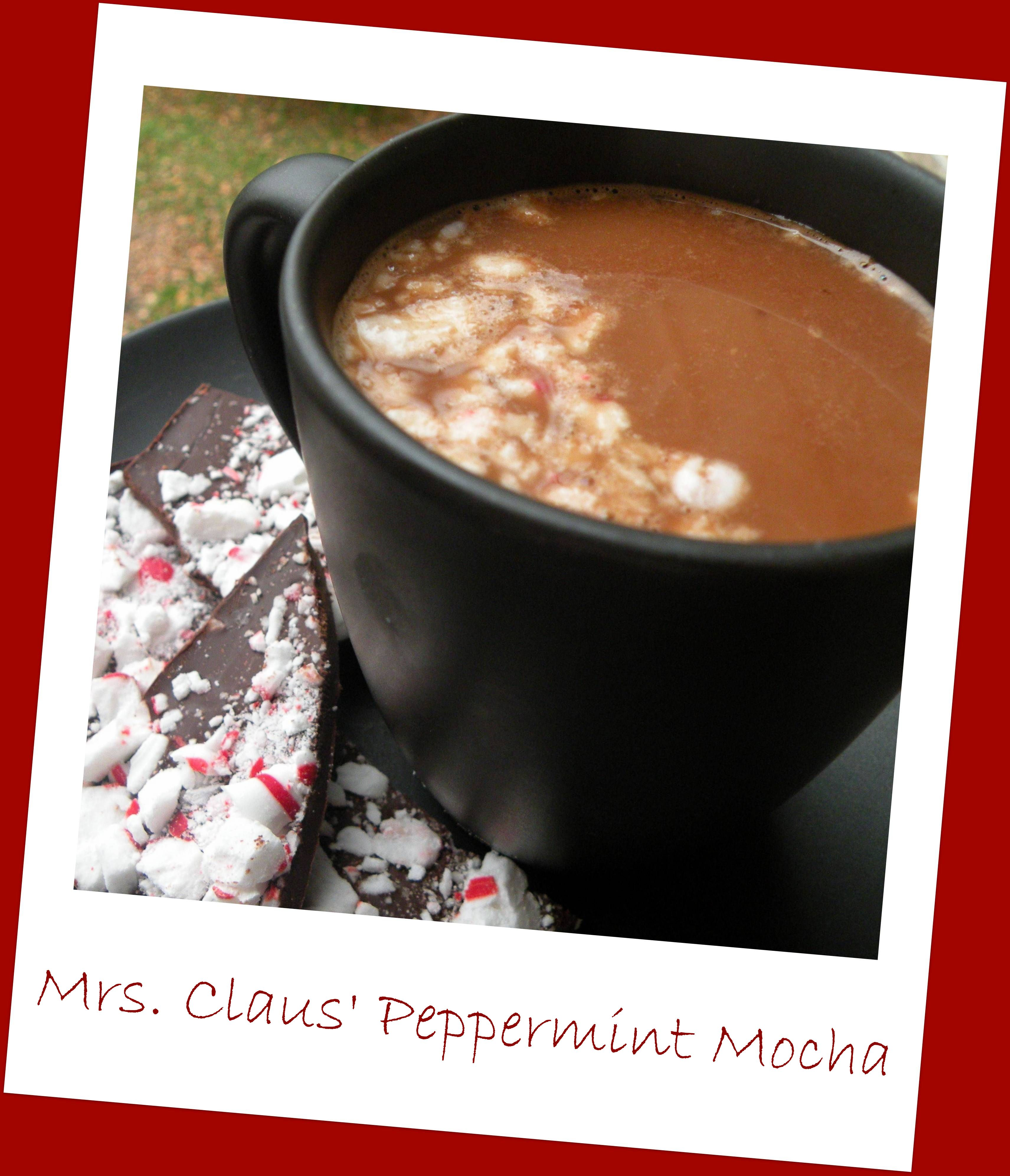 Mrs. Claus' Peppermint Mocha made with real chocolate, only 4 ingredients! So delicious and simple.