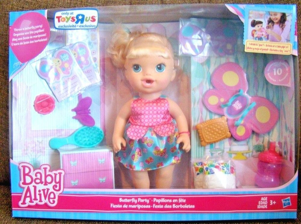 Baby Alive Butterfly Party Doll Set Toys R Us Exclusive Hasbro New Hasbro Dollswithclothingaccessories Baby Alive Doll Sets Butterfly Party