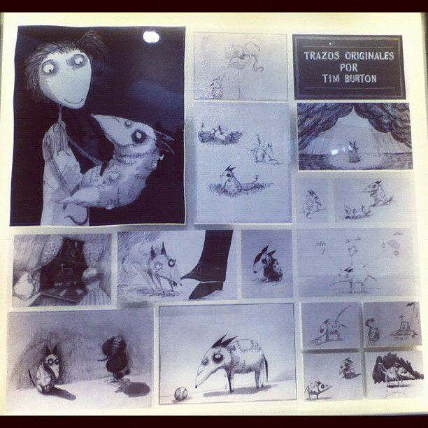 b6e2984c983 Frankenweenie art storyboard by Tim Burton