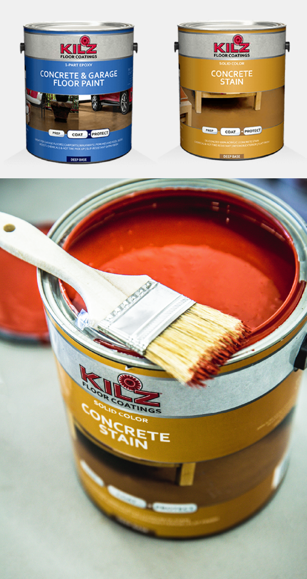 Kilz Line Of Concrete Stain And Floor Paint Is Great For