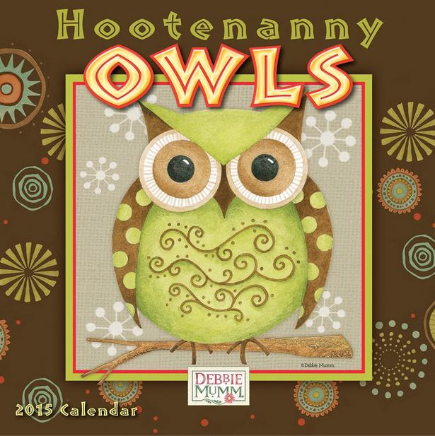 Owls mini calendar '15