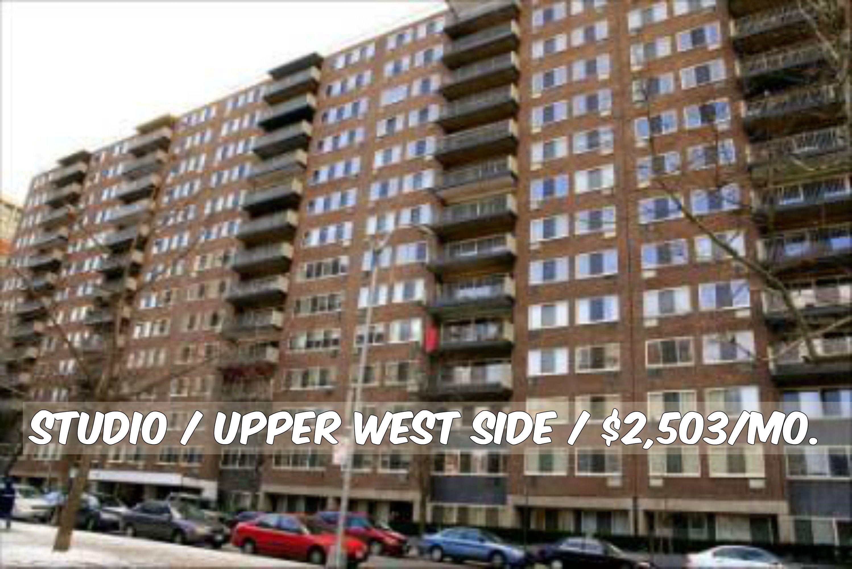studio apt for rent in upper west side at 2 503 mo doorman