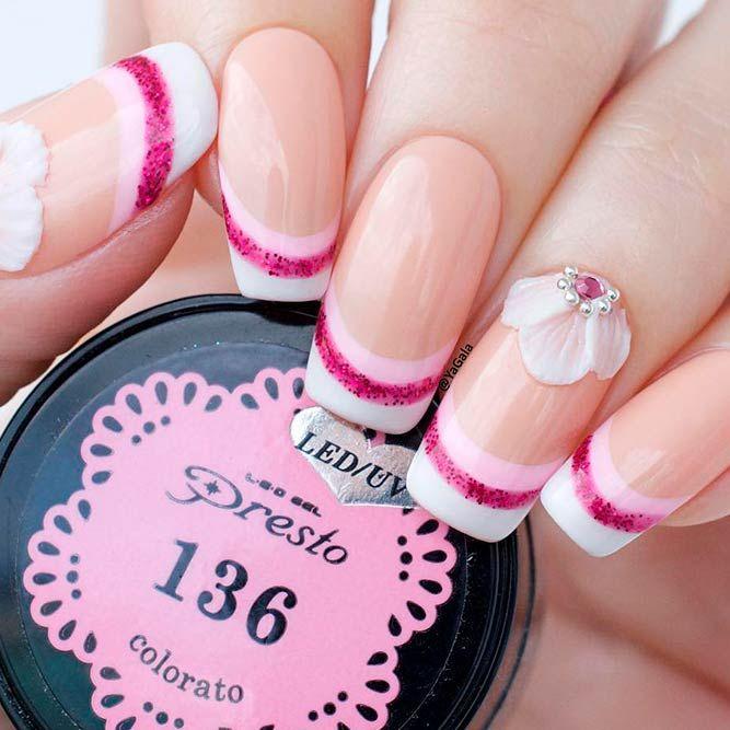 Top 14 Beautiful Flowers Nail Design | Nail art techniques, Art ...