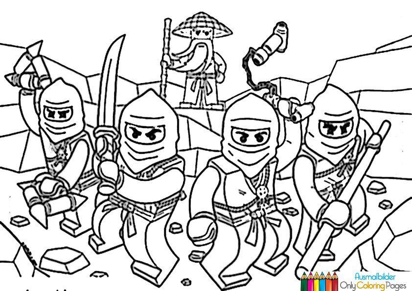 Ninjago Ausmalbilder zum Ausdrucken   Ninjago ausmalbilder ...