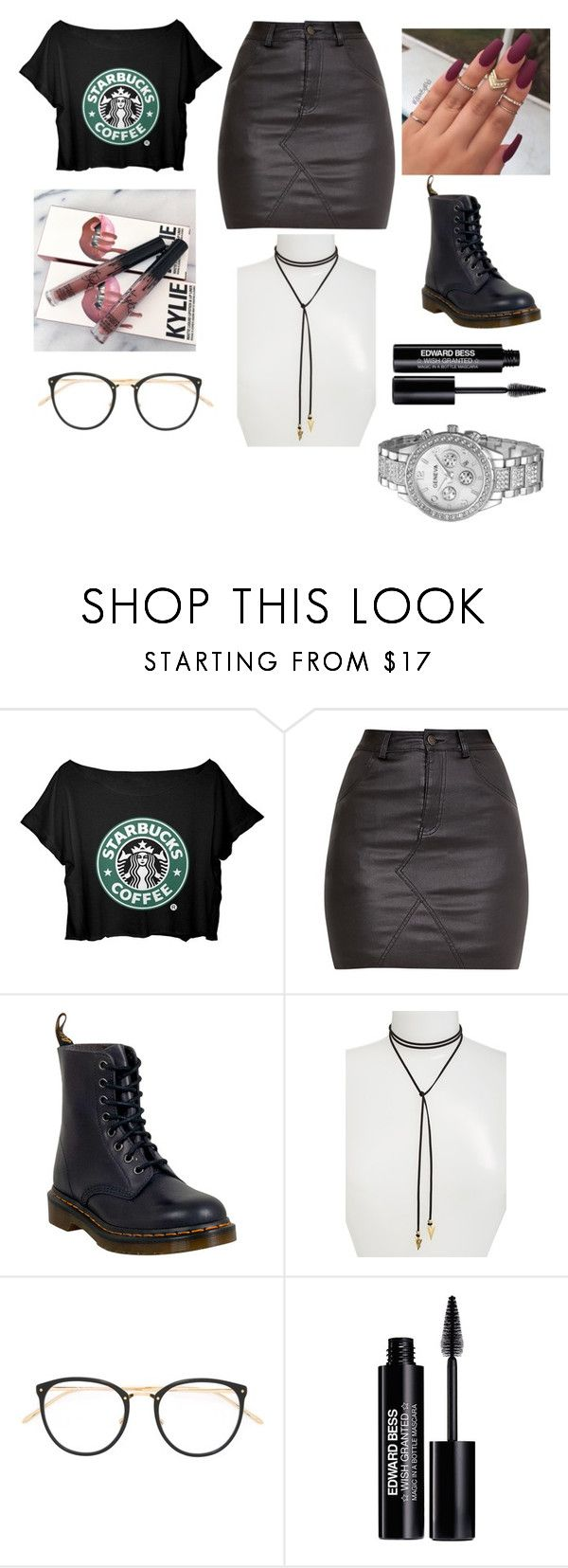 """Today I wanna look like this"" by kimk7 ❤ liked on Polyvore featuring Dr. Martens, Vanessa Mooney, Linda Farrow and Edward Bess"