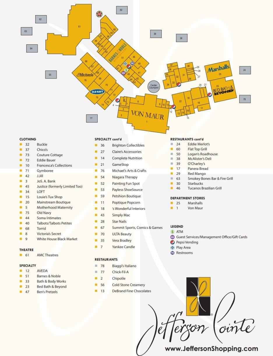 Chula Vista Mall Stores : chula, vista, stores, Jefferson, Pointe, Shopping, Brighton, Collectibles,, Jefferson,, Black, Friday, Holiday