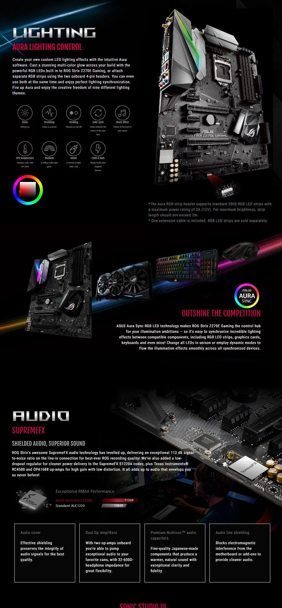ASUS ROG Strix Z270E Gaming Motherboard [STRIX-Z270E-GAMING