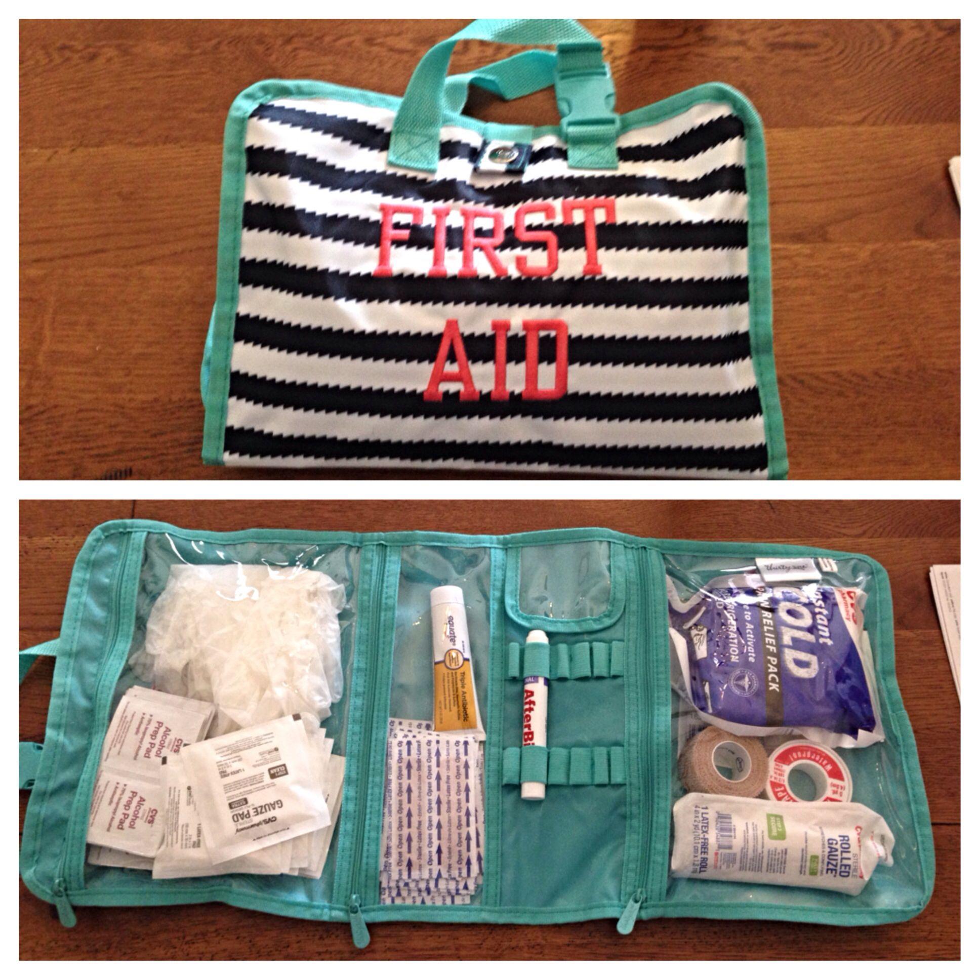 Timeless Beauty Bag as a first aid kit! www.mythirtyone