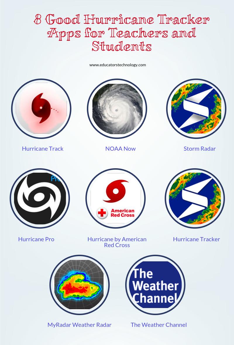 8 Good Hurricane Tracker Apps For Teachers And Students Teched Extras Apps For Teachers App Study Skills