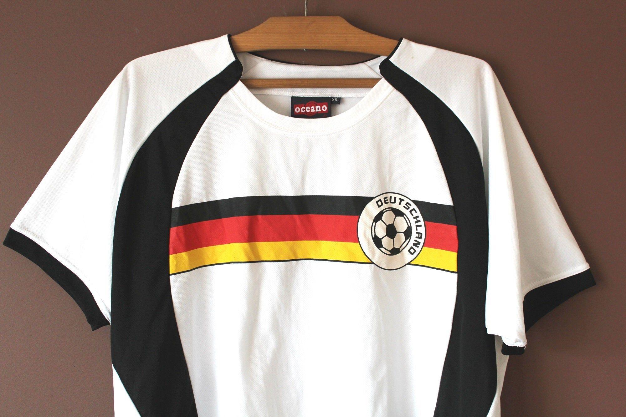 Deutschland Football Shirt Vintage German National Team Etsy Football Shirts Training Shirts Shirts [ 1333 x 2000 Pixel ]